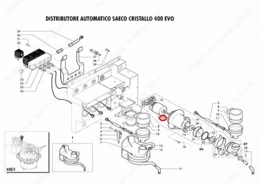 Motor Mixer '05 24V DC- M.B.T. Saeco